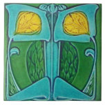 "Vintage Art Nouveau Deco Majolica Floral Craftsman Tile<br><div class=""desc"">Vintage Art Nouveau Deco Majolica Floral Craftsman &quot;Arts and Crafts&quot; Style Vintage Reproduction Repro Art Deco Nouveau Midcentury &quot;Mid Century&quot; &quot;Mid-Century&quot; Modern Antique Bathroom Bath Counter Counters Backsplash &quot;Tub Surround&quot; &quot;Fireplace Surround&quot; Trivet ceramic ceramics tile tiles tuile tuiles porcelain stoneware earthenware terracotta Remodel Remodeling Redesign redo renovation construction DIY do-it-yourself...</div>"