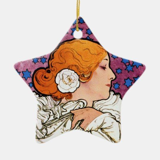 Vintage Art Nouveau Decoration Ornament by Mucha