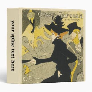 Vintage Art Nouveau, Divan Japonais Nightclub Cafe Vinyl Binders