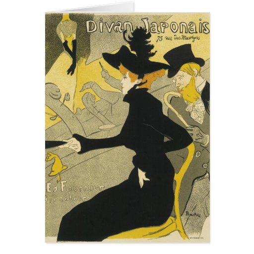 Vintage Art Nouveau, Divan Japonais Nightclub Cafe Card