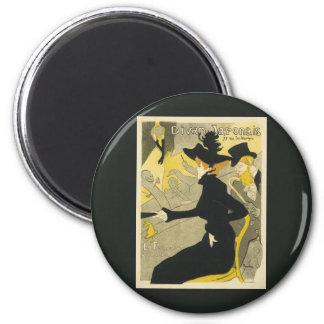 Vintage Art Nouveau, Divan Japonais Nightclub Cafe Magnet