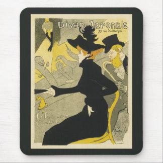 Vintage Art Nouveau, Divan Japonais Nightclub Cafe Mouse Pad