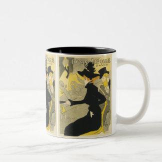 Vintage Art Nouveau, Divan Japonais Nightclub Cafe Two-Tone Coffee Mug