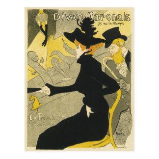 Vintage Art Nouveau, Divan Japonais Nightclub Cafe Postcard