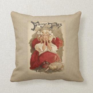 Vintage Art Nouveau | Ethel Reed Fairy Tales Throw Pillow