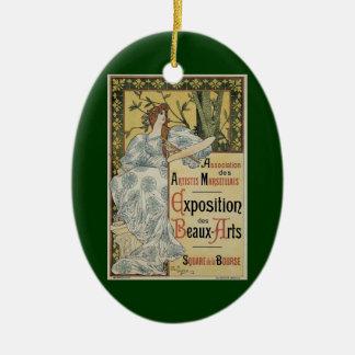 Vintage Art Nouveau, Exposition des Beaux Arts Ceramic Ornament