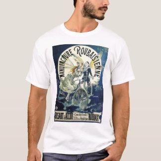Vintage Art Nouveau Fairies, Pierrot Bicycle Moon T-Shirt