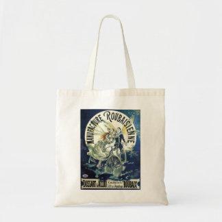 Vintage Art Nouveau Fairies, Pierrot Bicycle Moon Tote Bag