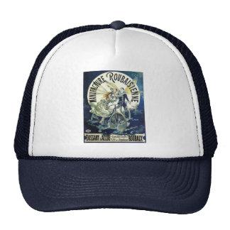 Vintage Art Nouveau Fairies, Pierrot Bicycle Moon Trucker Hat