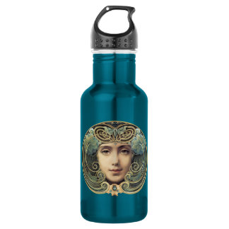 Vintage Art Nouveau Feminine Beauty Water Bottle