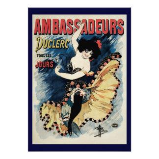 Vintage Art Nouveau Flamenco Dancer Ambassadeurs Personalized Announcement