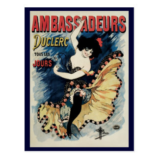 Vintage Art Nouveau Flamenco Dancer Ambassadeurs Postcards