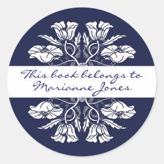 Vintage Art Nouveau Floral Book Plate