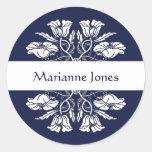 Vintage Art Nouveau Floral Name Label Sticker