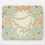 vintage art nouveau flower bunches mouse pad