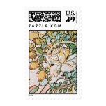 Vintage Art Nouveau Flowers Postage