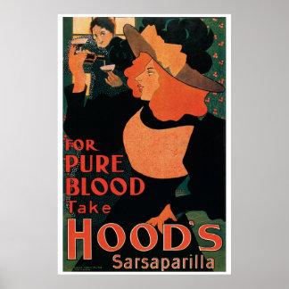 Vintage Art Nouveau, for pure blood, sarsaparilla Posters