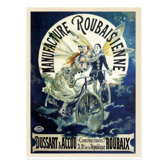 Vintage art nouveau French bicycle ad Postcard