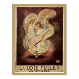 Vintage art nouveau French dance ad Postcard