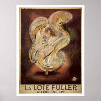 Vintage art nouveau French dance ad Poster