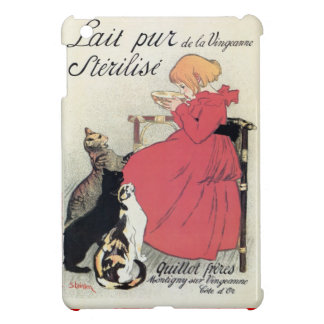 Vintage Art nouveau French milk ad, cats, girl Cover For The iPad Mini