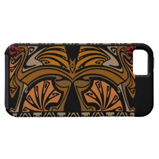 Vintage art nouveau gold with brown dragons iPhone 5 case