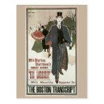 Vintage art nouveau His Lordship book ad Postcard