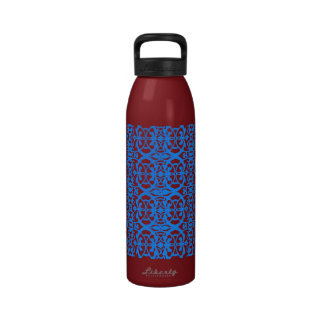 Vintage art nouveau in lavender blue reusable water bottles