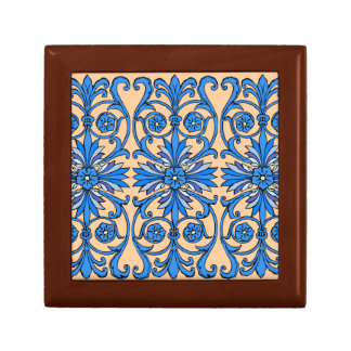 Vintage art nouveau in shades of blue jewelry boxes