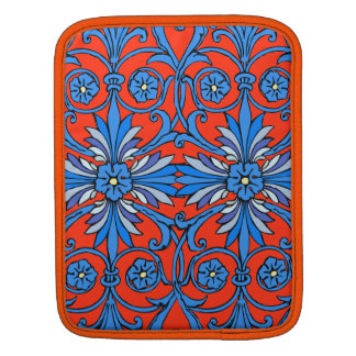 Vintage art nouveau in shades of blue iPad sleeve