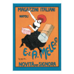 Vintage Art Nouveau; Italian Fashion for Women Personalized Invitations