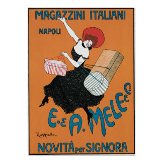 Vintage Art Nouveau, Italian Women Fashion Poster
