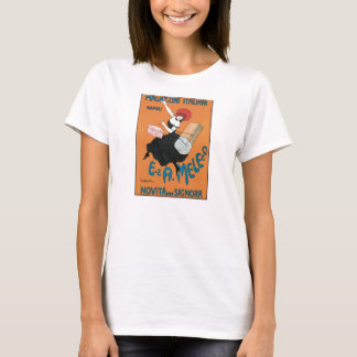 Vintage Art Nouveau, Italian Women Fashion T-Shirt