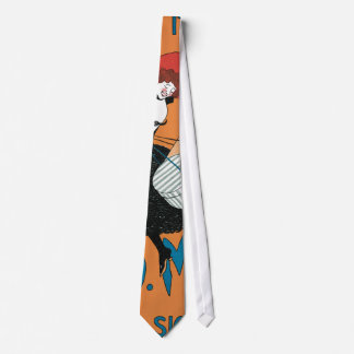 Vintage Art Nouveau, Italian Women Fashion Tie