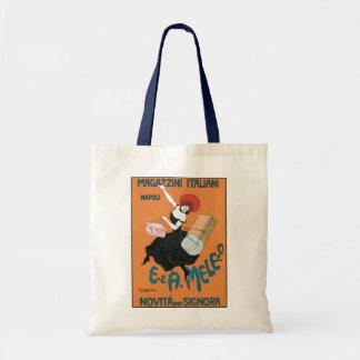 Vintage Art Nouveau, Italian Women Fashion Tote Bag
