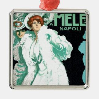 Vintage Art Nouveau, Italy Fashion and Fancy Women Metal Ornament