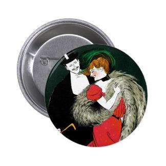 Vintage Art Nouveau, Italy Fashion Couple Button