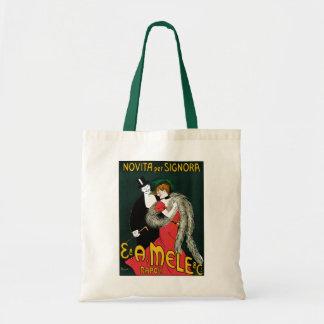 Vintage Art Nouveau, Italy Fashion Couple Tote Bag