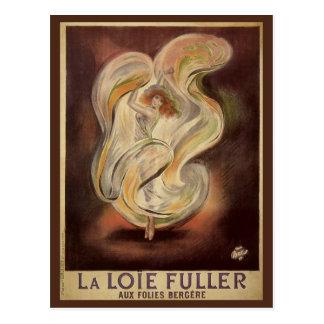 Vintage Art Nouveau La Loie Fuller Dancer Dancing Post Card