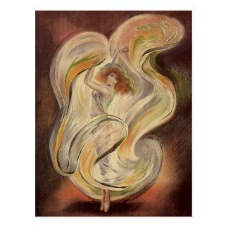 Vintage Art Nouveau La Loie Fuller Dancer Dancing Postcard