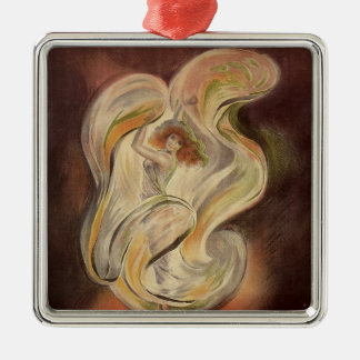 Vintage Art Nouveau, La Loie Fuller Modern Dancer Metal Ornament