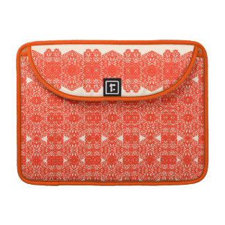 Vintage art nouveau lace design in red MacBook pro sleeves