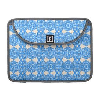 Vintage art nouveau lace in lavender blue sleeves for MacBooks