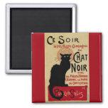Vintage Art Nouveau, Le Chat Noir 2 Inch Square Magnet