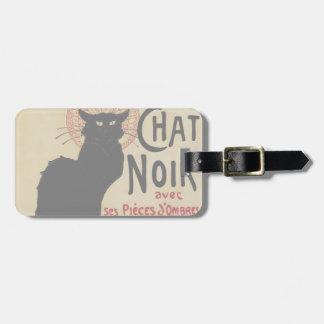 Vintage Art Nouveau, Le Chat Noir Bag Tag