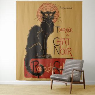 Vintage Art Nouveau Le Chat Noir Black Cat Tapestry