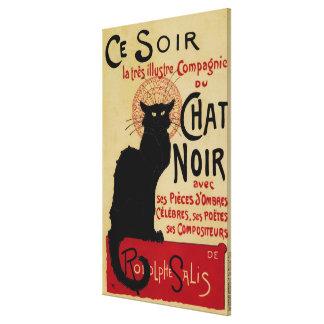 Vintage Art Nouveau, Le Chat Noir Canvas Print