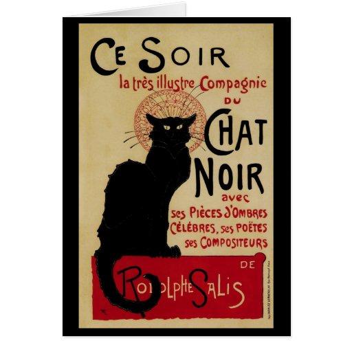 Vintage Art Nouveau, Le Chat Noir Cards