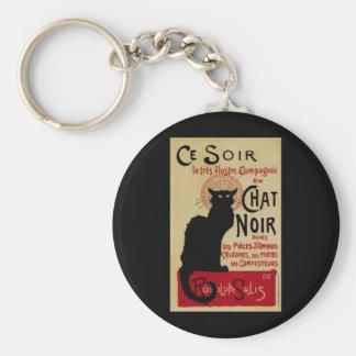 Vintage Art Nouveau, Le Chat Noir Key Chain
