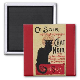 Vintage Art Nouveau, Le Chat Noir Fridge Magnet